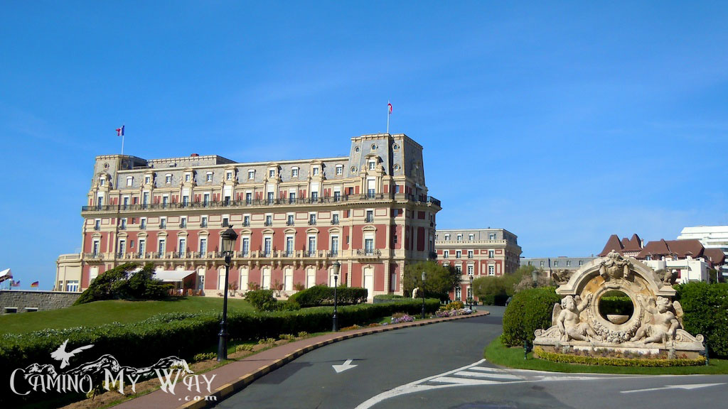 photo of the exterior of the Hotel du Palais - Biarritz, France