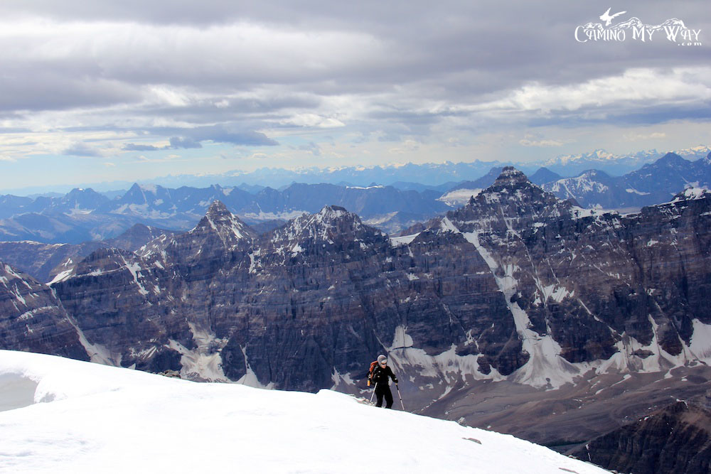 Photo of final climb to Mount Temple Summit, Banff National Park, Canada