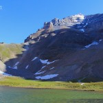 Photo of Mt Temple, Sentinel Pass, Banff National Park, Canada from lower Tarn