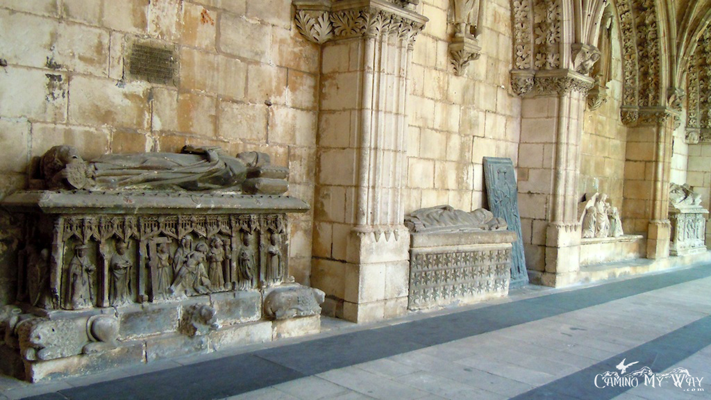 Photo of Cloister, tombs, stone, walls, Cathedral, Burgos Spain