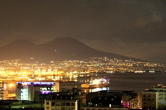 night Naples italy