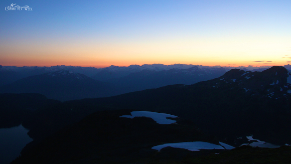 Garibaldi Park Panorama Ridge Tantalus mountains sunset
