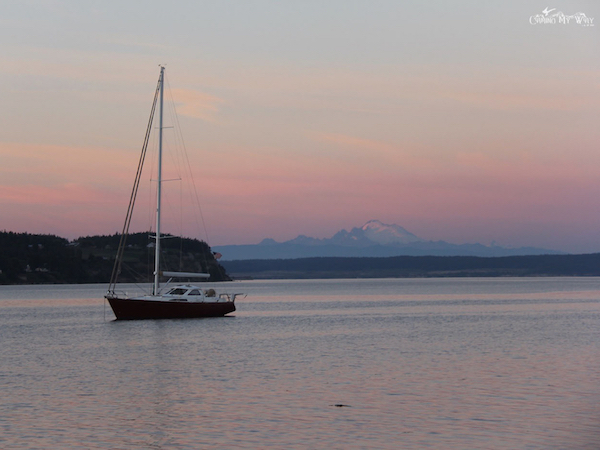 sunset coupeville washington mount baker